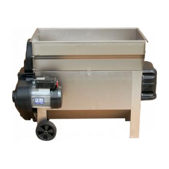 Desciorchinator cu zdrobitor electric LDSS520, cu cuva rabatabila si pompa centrifuga, productie 2000 kg/h, complet inox