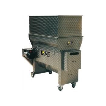 Desciorchinator cu zdrobitor electric LDSS750, cu pompa centrifuga, productie 4000-5000 kg/h, complet inox