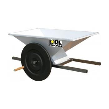 Zdrobitoare pentru struguri, manuala, din tabla emailata, productivitate 500-700 kg/h, LGC3