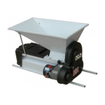 Desciorchinator cu zdrobitor electric LGCSR2, productivitate 1500 kg/h, cuva in plan inclinat, din tabla emailata