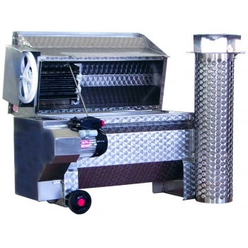 Desciorchinator cu zdrobitor electric JOLLY 35 INOX, productivitate 3800 kg/h, din inox alimentar