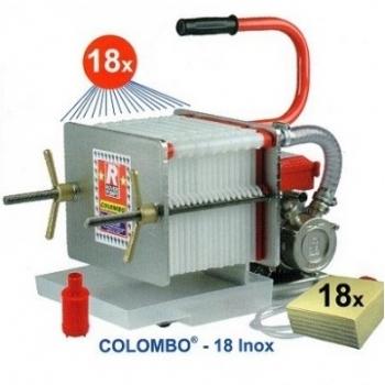 Filtru vin Colombo 18 Inox, in inox, cu 18 placi, productivitate 800l/h