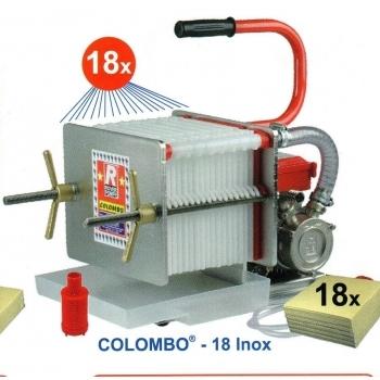 Filtru ulei Colombo 18 Oil, din inox, cu 18 placi, productivitate 300l/h