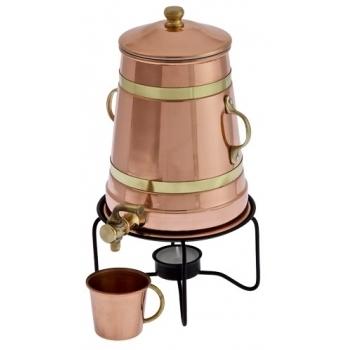 IBRIC DIN CUPRU - FIERBATOR/INCALZITOR CEAI, CAFEA, VIN 1.5 L