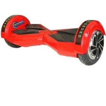 Hoverboard electric Nova Vento HV8 Red&Black, autonomie 20 km, viteza maxima de deplasare 12 km/h