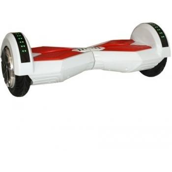Hoverboard electric Nova Vento HV8 White&Red, autonomie 20 km, viteza maxima de deplasare 12 km/h
