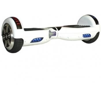 Hoverboard electric Nova Vento HV6.5 White, autonomie 20 km, viteza maxima de deplasare 10 km/h