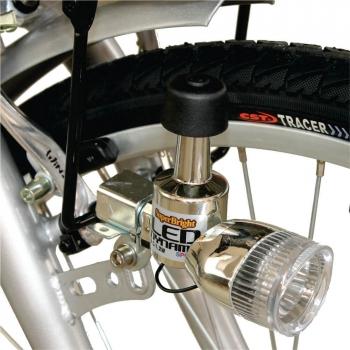Bicicleta electrica Nova Vento Clasic L26A Silver, autonomie 55 km, viteza maxima de deplasare 25 km/h #6