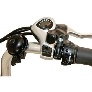 Bicicleta electrica Nova Vento Clasic L26A Silver, autonomie 55 km, viteza maxima de deplasare 25 km/h #3