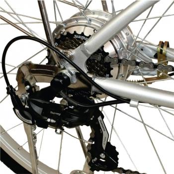 Bicicleta electrica Nova Vento Clasic L26A Silver, autonomie 55 km, viteza maxima de deplasare 25 km/h #4