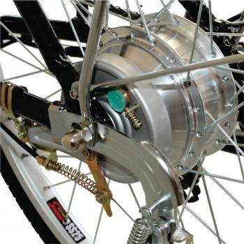 Bicicleta electrica Nova Vento Clasic L26A Silver, autonomie 55 km, viteza maxima de deplasare 25 km/h #5