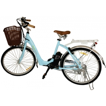 Bicicleta electrica Nova Vento Mlady L2601 Blue, autonomie 70 km, viteza maxima de deplasare 25 km/h