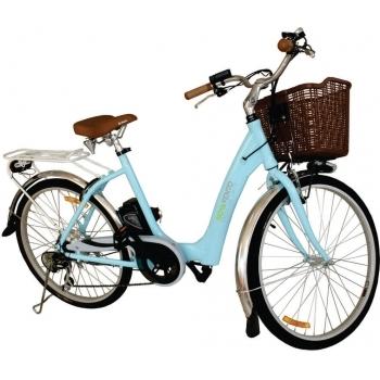Bicicleta electrica Nova Vento Mlady L2601 Blue, autonomie 70 km, viteza maxima de deplasare 25 km/h #2