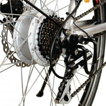 Bicicleta electrica Nova Vento Long Run L2803 Silver, autonomie 70 km, viteza maxima de deplasare 25 km/h #4