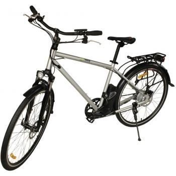 Bicicleta electrica Nova Vento Long Run L2803 Silver, autonomie 70 km, viteza maxima de deplasare 25 km/h