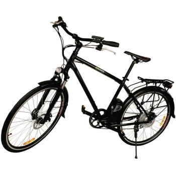 Bicicleta electrica Nova Vento Long Run L2803 Black, autonomie 70 km, viteza maxima de deplasare 25 km/h