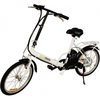 Bicicleta electrica Nova Vento Smart City T2009 White, autonomie 50 km, viteza maxima de deplasare 25 km/h