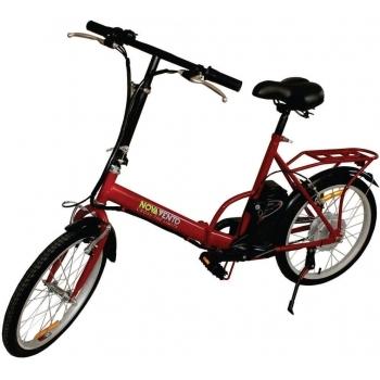 Bicicleta electrica Nova Vento Smart City T2009 Red, autonomie 50 km, viteza maxima de deplasare 25 km/h
