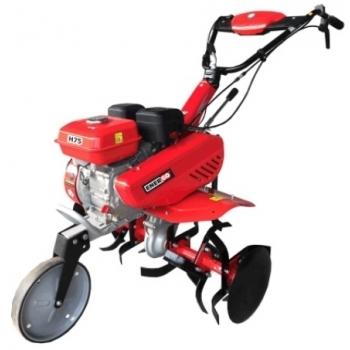 Motosapa Energo H75 + Roti cauciuc + plug + prasitoare, benzina, putere 7 Cp, latime de lucru 75 cm, pornire la sfoara, 2 viteze inainte + 1 inapoi