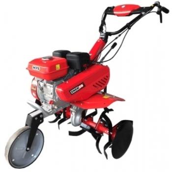 Motosapa Energo H75 + Roti cauciuc, benzina, putere 7Cp, latime de lucru 75 cm, pornire la sfoara, 2 viteze inainte + 1 inapoi