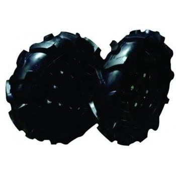 Set roti pneumatice 4.00-8 cu ax hexagonal
