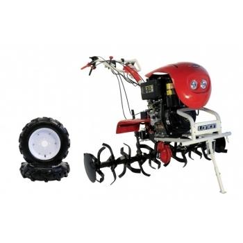Motocultor Loncin  LC 1440 Diesel 9,5 CP cu roti de cauciuc  5.00-12, latime de lucru 60-144 cm