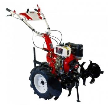 Motocultor Pro Series 1000 cu roti de cauciuc (5.00-10), motorina, putere 5 Cp,  latime de lucru 50-80 cm, pornire la sfoara, 2 viteze inainte + 1 inapoi