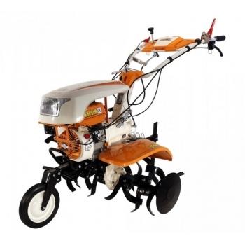Motocultor O-mac NEW 1000-S 7 CP cu roti cauciuc  + plug + rarita, latime de lucru 50-90 cm #2