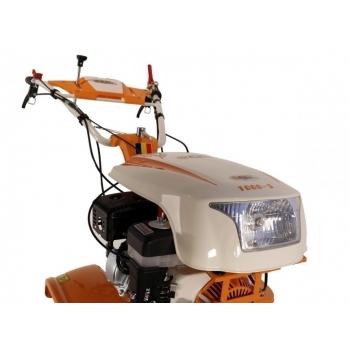 Motocultor O-mac NEW 1000-S 7 CP cu roti cauciuc  + plug + rarita, latime de lucru 50-90 cm #4