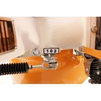 Motocultor O-mac NEW 1000-S 7 CP cu roti cauciuc  + plug + rarita, latime de lucru 50-90 cm #10