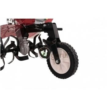 Motocultor Prorun PT-750A 7 CP cu roti metalice + plug + rarita + suport, latime de lucru 60-90 cm #4