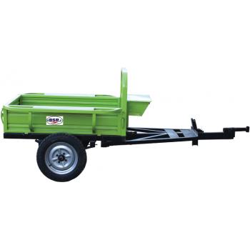 Remorca motocultor BSR 600L, basculanta, capacitate 700kg