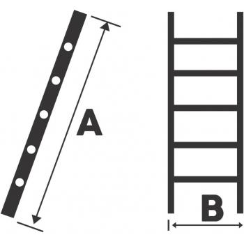 Scara simpla STR113, 13 trepte, din aluminiu,  3,59 metri #2