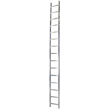 Scara simpla STR115, 15 trepte, din aluminiu, 4.13 metri