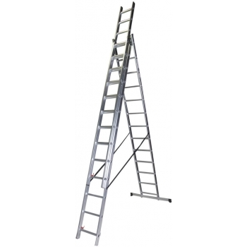 Scara tripla STR313, 3x13 trepte, din aluminiu, 3.59 metri #2