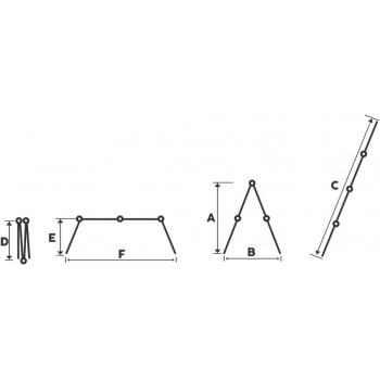 Scara multifunctionala STR402, 4 segmente x 2 trepte, din aluminiu, 2.5 metri #3