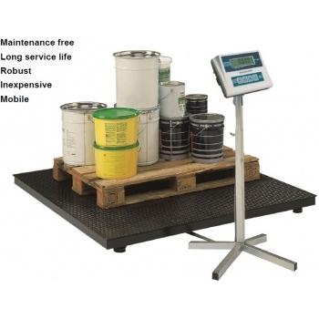 Cantar platforma dimensiuni 1250x1250x100 mm,  capacitate maxima 1500/3000 kg, acumulator si certificare metrologica