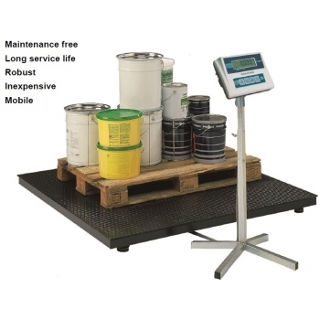 Cantar platforma , dimensiuni 1250x1500x100 mm,  capacitate maxima 1500/3000 kg, acumulator si certificare metrologica