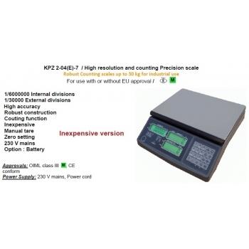 Cantar functie numarare piese , dimensiuni 220x315  mm, capacitate maxima 6 kg,  fara certificare  metrologica