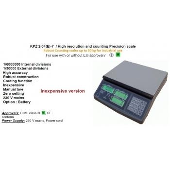 Cantar functie numarare piese , dimensiuni 220x315  mm, capacitate maxima 6 kg,  cu certificare  metrologica