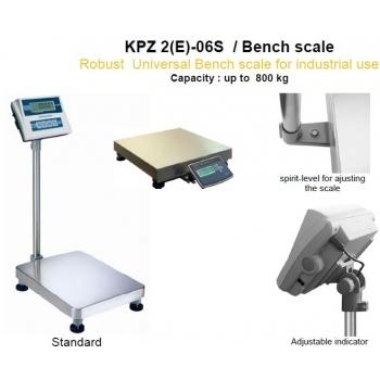 Cantar platforma single-point,  dimensiuni  800x600x150 mm, capacitate maxima 300 kg, acumulator si certificare  metrologica