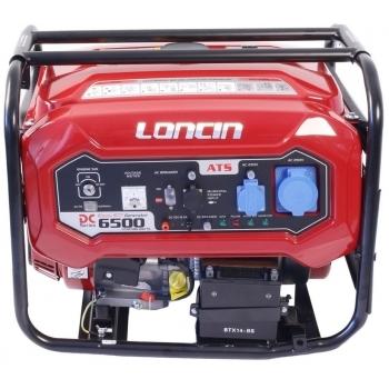 Generator de curent O-mac, LC6500D-DC Loncin, monofazic, putere 5.5 kW, benzina, putere motor 7.38 Cp, tensiune 220 V, pornire electrica, AVR inclus