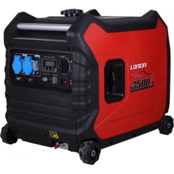 Generator de curent O-mac, LC3500i (inverter) Loncin, monofazic, putere 3.5 kW, benzina, putere motor 6.0 Cp, pornire electrica