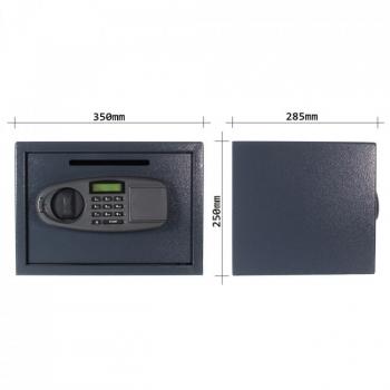 Seif mobila LETTERA 1 antracit, inchidere electronica #4