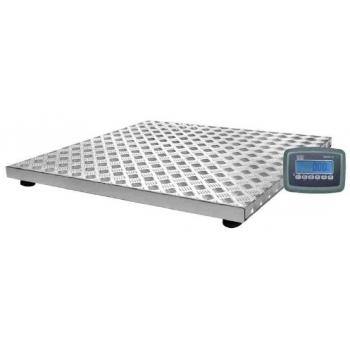 Cantar platforma structura galvanizata si platan din  aluminiu, dimensiuni 580x1010x85 mm, capacitate max 300 kg,  acumulator si certificare metrologica