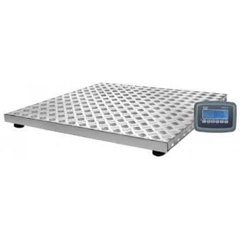 Cantar platforma structura galvanizata si platan din  aluminiu, dimensiuni 910x1010x85 mm, capacitate maxima 300 kg,  acumulator si certificare metrologica