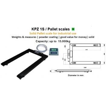 Cantar tip U, dimensiuni 840x1260 mm, capacitate maxima 1500/3000 kg, acumulator si certificare metrologica