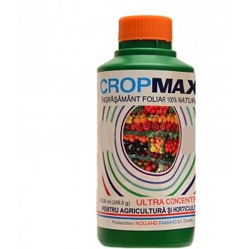 Ingrasamant lichid Bio, contine stimulatori de crestere, cu aplicare foliara,  Cropmax, 250 ml,  Chemark