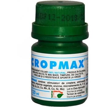Ingrasamant lichid Bio, contine stimulatori de crestere, cu aplicare foliara, Cropmax, 100 ml,  Chemark