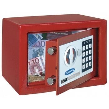 Seif mobila Dagobert rosu, inchidere electronica